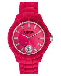Versus - Pink 'tokyo' Rubber Strap Watch - Lyst