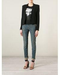Saint Laurent - Blue Skinny Mid-Rise Stretch-Denim Jeans - Lyst