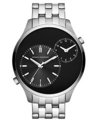 Armani Exchange | Black Dual Time Bracelet Watch for Men | Lyst