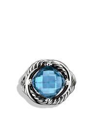 David Yurman - Infinity Ring With Hampton Blue Topaz - Lyst