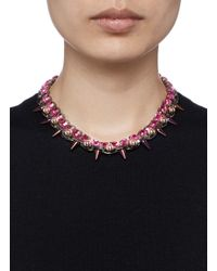 Joomi Lim - Pink 'dynamic Duo' Spike Sphere Necklace - Lyst
