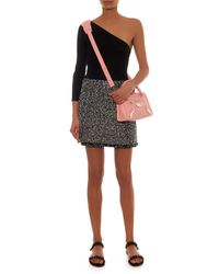 Balenciaga | Pink Metal Plate Mini City Leather Cross-Body Bag | Lyst