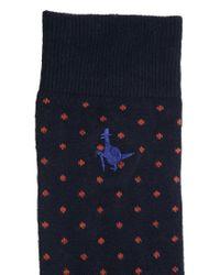 Jack Wills - Blue Polka Dot Print Socks for Men - Lyst