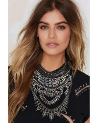 Nasty Gal - Metallic Jewel Intentions Collar Necklace - Lyst