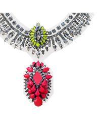 Shourouk - Pink Pixie Pvc Necklace - Lyst