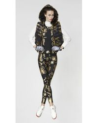 Cynthia Rowley | Black Print Quilted Puffer Vest | Lyst