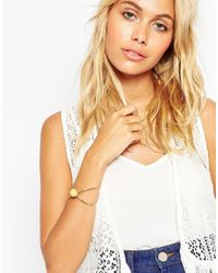 ASOS | Metallic Kiss Bangle Bracelet With Bead | Lyst