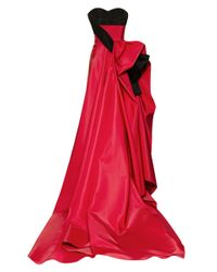 Carolina Herrera | Red Silk Faille Gown with Ribbon | Lyst