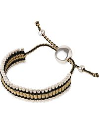 Links of London - Friendship Bracelet Gold And Black - Lyst