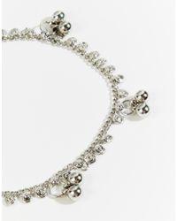 ASOS | Metallic Ditsy Bead Anklet | Lyst