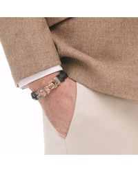 John Hardy | Black Legends Naga 15mm Station Bracelet In Bronze And Leather | Lyst