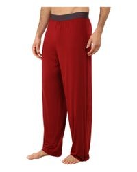 Calvin Klein - Red Micro Modal Pant for Men - Lyst