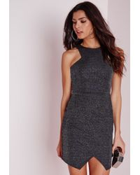 Missguided | Multicolor Racer Front Bodycon Disco Dress Multi | Lyst