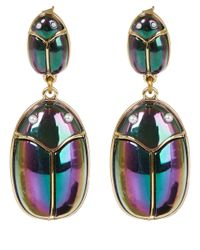 Lulu Frost - Metallic Gold-Tone Scarab Pair Earrings - Lyst