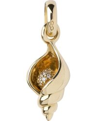 Links of London | Metallic Seashell 18-carat Gold Charm | Lyst