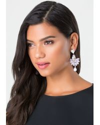 Bebe | Purple Lavender Stone Earrings | Lyst