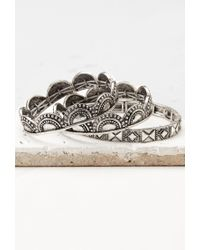 Forever 21 | Metallic Tribal-inspired Bracelet Set | Lyst