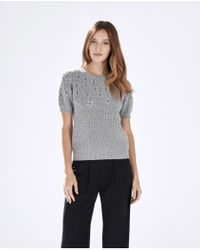 Parker | Gray Tandy Knit Top | Lyst