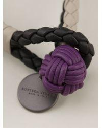 Bottega Veneta | Multicolor Double Intrecciato Bracelet for Men | Lyst