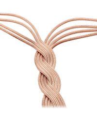 Astley Clarke - Metallic Rose Gold Pendulum Necklace - Lyst