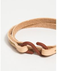 Cause and Effect - Brown Tanned Leather Double Wrap - Lyst