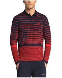 BOSS Green | Blue Long-sleeved Polo Shirt 'pleesy 1' In Cotton Blend for Men | Lyst