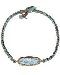 Brooke Gregson - Blue Aquamarine Icicle Silk Bracelet - Lyst