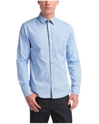 BOSS Orange - Blue Slim Fit Shirt 'eslime' In Cotton for Men - Lyst