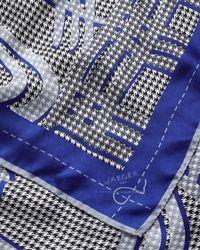 Jaeger - Blue Silk Exploded Logo Scarf - Lyst