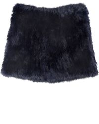 Yves Salomon Purple Fur Snood