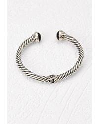 Forever 21 | Metallic Faux Stone Hinge Bracelet | Lyst
