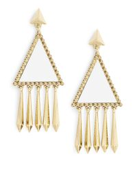 House of Harlow 1960 | Pink Triangle Leather Chandelier Earrings | Lyst