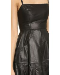 Vera Wang Collection - Leather Camisole Dress - Black - Lyst
