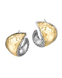 John Hardy - Metallic Palu Kapal Two-Tone Curved Earrings - Lyst