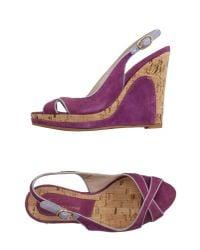 Blumarine - Purple Sandals - Lyst