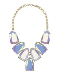 Kendra Scott | Blue Harlow Iridescent Statement Necklace | Lyst