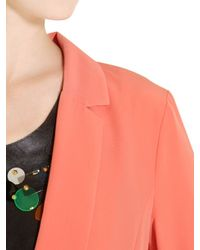 Space Style Concept - Pink Techno Satin Deconstructed Jacket - Lyst