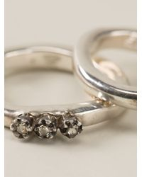 Rosa Maria - Metallic Trio Of Rings - Lyst