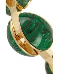 Chloé - Green Ellie Gold-Tone Stone Bracelet - Lyst