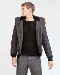 Zara | Gray Quilted Jacket for Men | Lyst