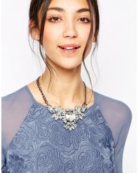 Girls On Film - Metallic Large Jewelled Statement Necklace - Lyst