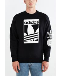 Adidas | White Originals Box Trefoil Graphic Sweatshirt for Men | Lyst
