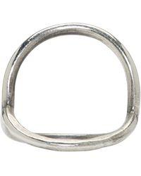 Ann Demeulemeester - Metallic Silver Circle Ring - Lyst