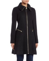 Jessica Simpson - Black Zip-front Walker Coat - Lyst