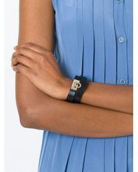 Ferragamo - Black Gancio Wrap Around Bracelet - Lyst