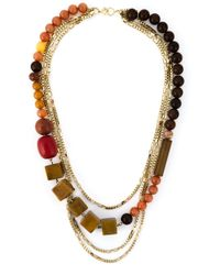 Wouters & Hendrix | Metallic Bead And Chain Necklace | Lyst