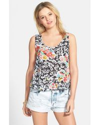 Volcom - Black 'got Your Back' Cutout Back Crop Tank - Lyst
