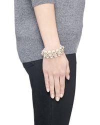 J.Crew - White Flower Stone Bracelet - Lyst
