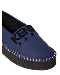 KENZO - Blue 30mm Rubberized Leather Espadrilles - Lyst