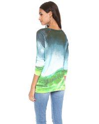 Tibi - Green Printed Raglan Sweater - Lyst